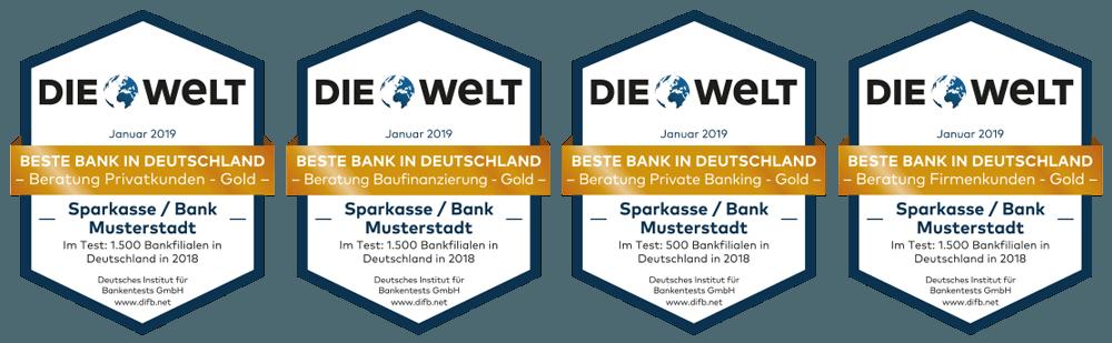 Ehrung d. Besten beim Banken-Qualitätstest 4