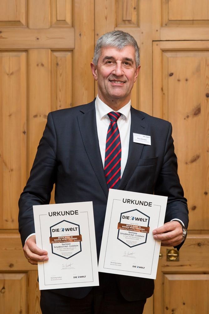 Klaus Ehrmann, Vorstandsmitglied der Sparkasse Schwäbisch Hall-Crailsheim
