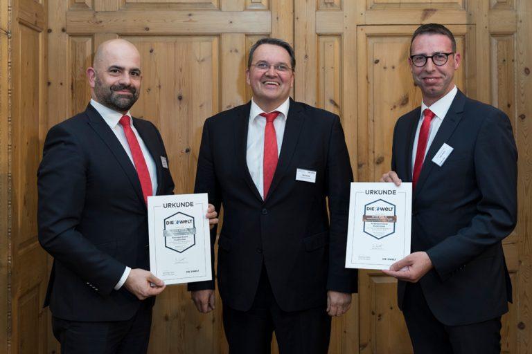 Rainer Santema, Abteilungsleiter S-FirmenCenter, Udo Becker, Vorstandsvorsitzender & Volker Zart, Vertriebsdirektor Privatkunden Kreissparkasse Euskirchen