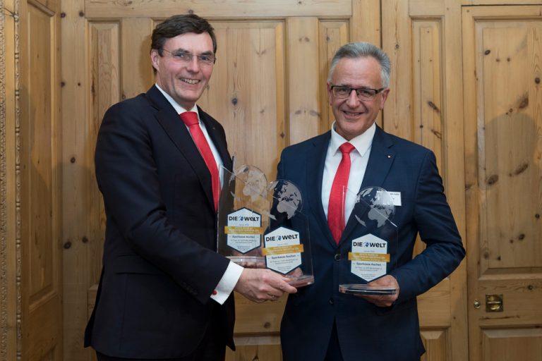 Norbert Laufs, Vorstandsvorsitzender & Ingo Scheffen, Direktor Unternehmenskunden Sparkasse Aachen