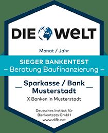 Deutsches Institut für Bankentests DIFB Sieger Bankentest Baufinanzierung