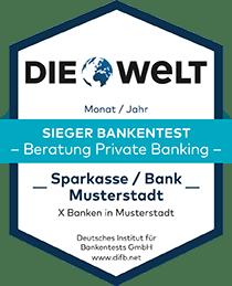 Deutsches Institut für Bankentests DIFB Sieger Bankentest Private Banking