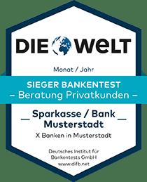 Deutsches Institut für Bankentests DIFB Sieger Bankentest Privatkunden