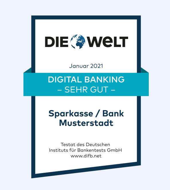 Ehrung der Besten beim Banken-Qualitätstest 2020 Axel Springer Haus 3