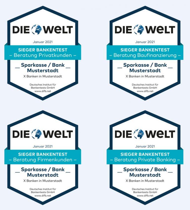 Ehrung der Besten beim Banken-Qualitätstest 2020 Axel Springer Haus 4