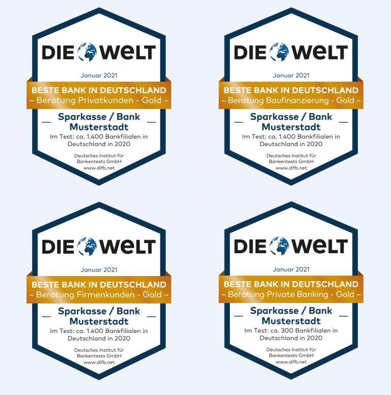 Ehrung der Besten beim Banken-Qualitätstest 2020 Axel Springer Haus 2